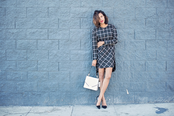 boxy - checkered dress - STYLE ME GRASIE