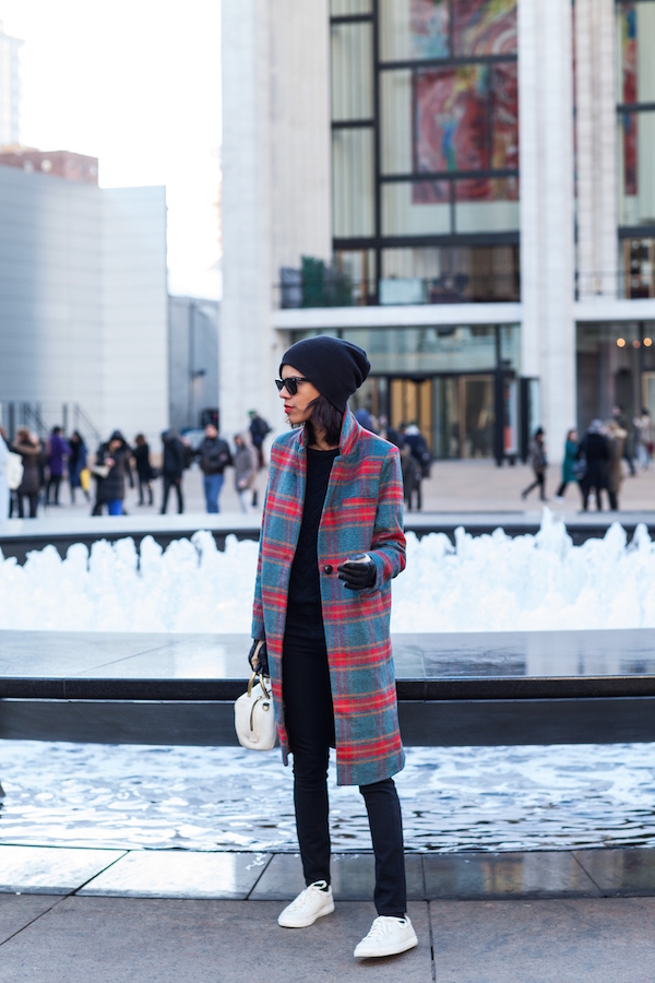 NYFW - plaid and casual