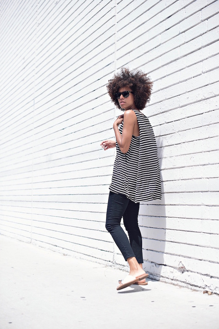 black and white striped tank - STYLE ME GRASIE