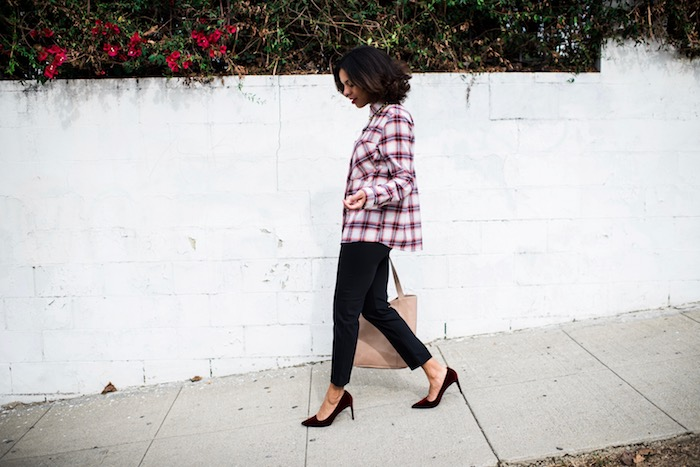 holiday plaid OOTD - STYLE ME GRASIE