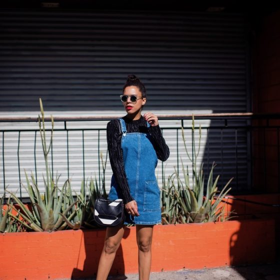 denim overall dress - STYLE ME GRASIE