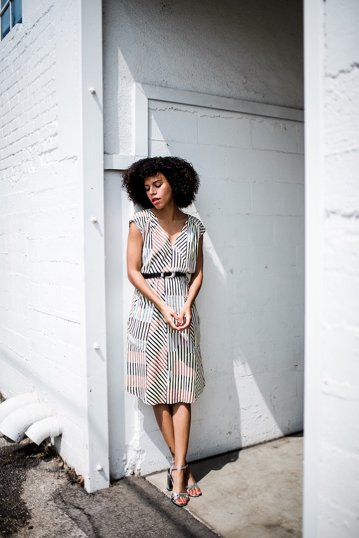 colorful striped dress - STYLE ME GRASIE
