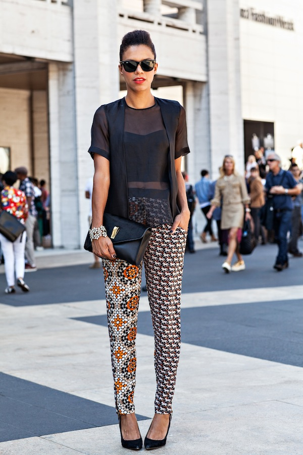nyfw the printed pants - STYLE ME GRASIE ootd