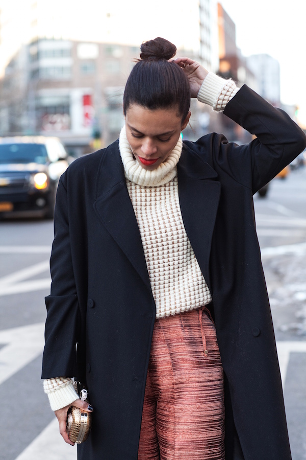 NYFW - turtleneck sweater + trench - STYLE ME GRASIE
