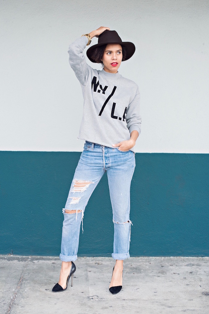 ny/la forever 21 sweater - STYLE ME GRASIE