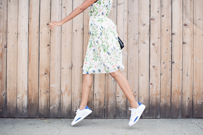 floral dress and sneakers - STYLE ME GRASIE