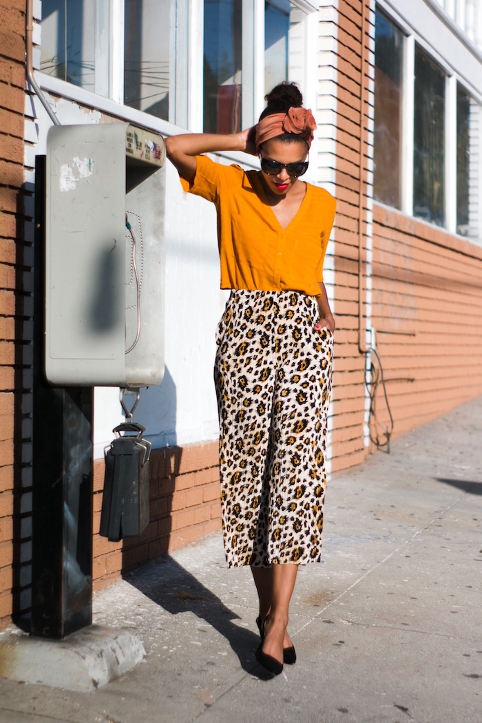 leopard cropped trousers - STYLE ME GRASIE