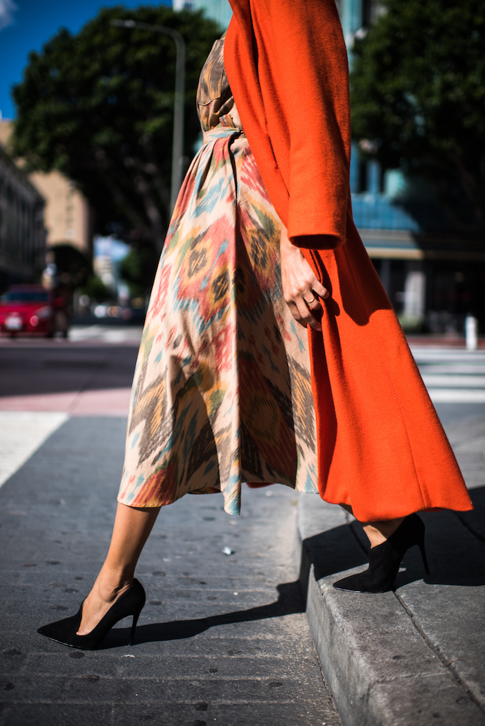 heidi merrick prints + orange coat - STYLE ME GRASIE