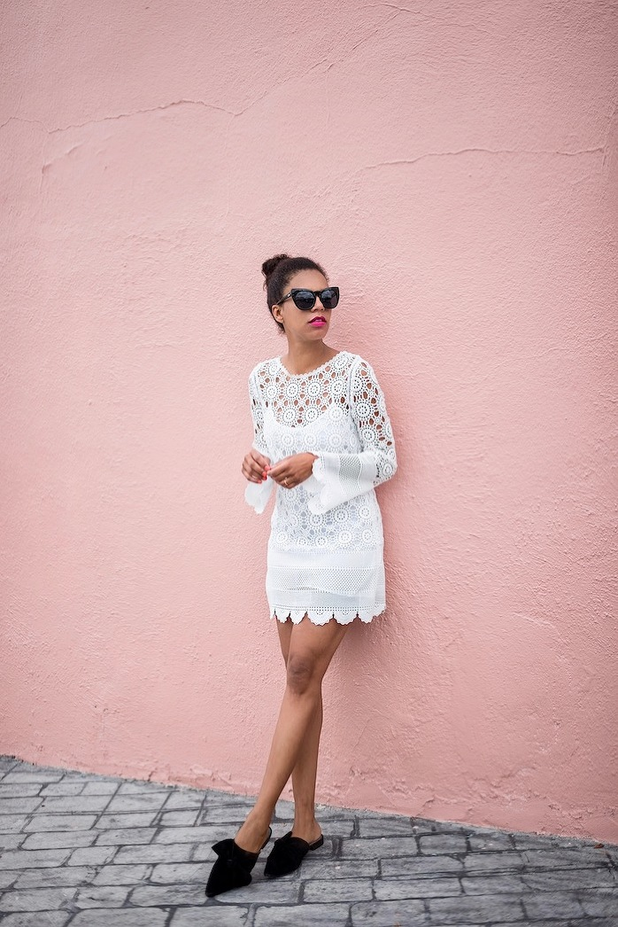 white lace dress - STYLE ME GRASIE
